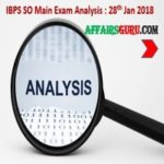 IBPS SO Main Exam Review 2018 - AffairsGuru