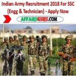 Indian Army Recruitment 2018 For SSC (Engg & Technician) - Apply Now