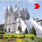 List of Important Temples In India PDF