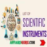 List of Scientific Instruments and their uses - AffairsGuru