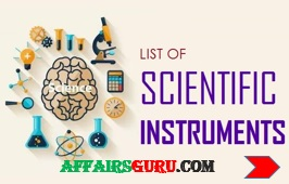 List of Scientific Instruments and their uses