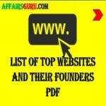 List of Top Websites and their founders - AffairsGuru