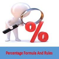 Percentage Formula and Rules - Quantitative Aptitude