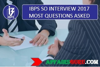 IBPS SO Interview 2017