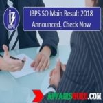 IBPS SO Result 2018 Declared-Check Now