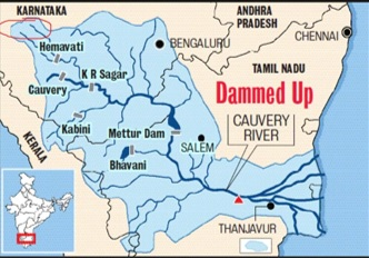 Kaveri River Map