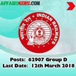RRB Group D Recruitment 2018