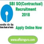 SBI SO Contractual Notification 2018 Out