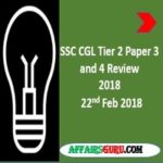 SSC CGL Tier 2 Paper 3 and 4 Review AffairsGuru