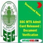SSC MTS Admit Card Released download Now