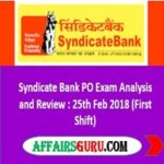 Syndicate Bank PO Exam Analysis and Review - AffairsGuru