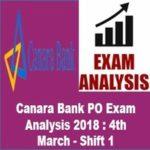 Canara Bank PO Exam Analysis 2018 4th March - Shift 1 AffairsGuru