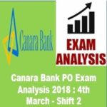 Canara Bank PO Exam Analysis 2018 4th March - Shift 2 AffairsGuru