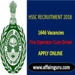 Haryana SSC Fire Operator Cum Driver Recruitment 2018 AffairsGuru
