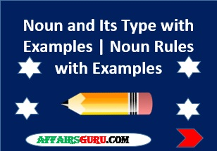Noun And Its Types With Examples Noun Rules With Examples Pdf