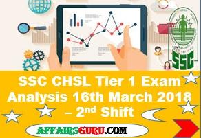 SSC CHSL Tier 1 Exam Analysis 16th March 2018 Shift 2