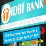 IDBI Executive Exam Analysis 2018 - Shift 2 AffairsGuru
