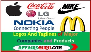 Logos And Taglines of Famous Companies and Products