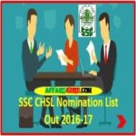 SSC CHSL Nomination List 2016-17 Out - Check Now - AffairsGuru