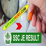 SSC JE Paper 1 Result 2018 AffairsGuru