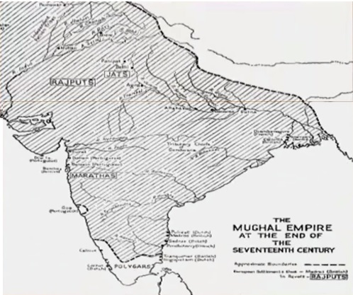The Mughal Empire End at the Seventeenth Century