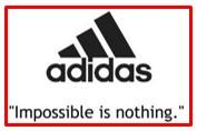 slogan of Adidas