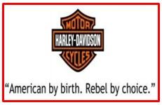 slogan of Harley Davidson