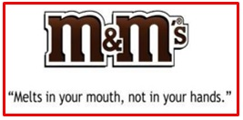 slogan of M&M's
