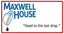 slogan of Maxwell House