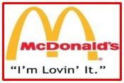 slogan of McDonald's