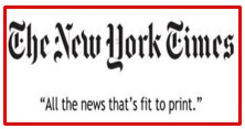 slogan of The New York Times