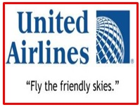slogan of United Airlines