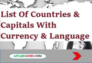 List Of Countries And Their Capitals Pdf