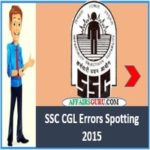 SSC CGL Error Spotting 2015 - AffairsGuru