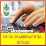 SSC CGL Tier 1 Syllabus - AffairsGuru