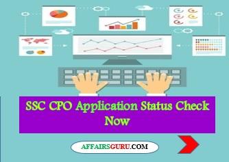 SSC CPO Application Status