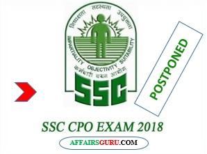 SSC CPO Exam Date 2018