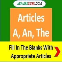 Fill In The Blank With Appropriate Articles - AffairsGuru