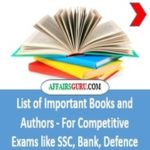 List of Important Books and Authors - AffairsGuru