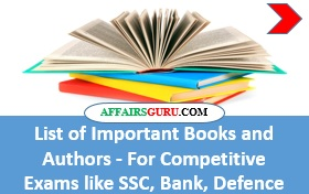 List of Important Books and Authors