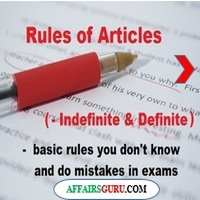 Rules of Articles In English Grammar With Examples PDF - AffairsGuru
