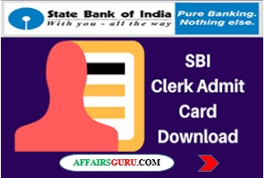 sbi clerk admit card download