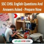 SSC CHSL English Questions And Answers Asked - AffairsGuru