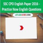 SSC CPO English Paper 2016 - AffairsGuru
