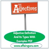 Adjective Definition And Its Types With Examples PDF