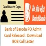 Bank of Baroda PO Admit Card - AffairsGuru