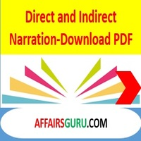 Direct And Indirect Narration In English Grammer Pdf Download The birds build their nests among the trees, the teacher said. affairsguru