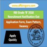 RBI Grade B Officer 2018 Notification