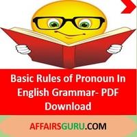 Rules of Pronoun In english Grammar