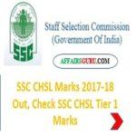 SSC CHSL Tier-1 Marks Released - AffairsGuru